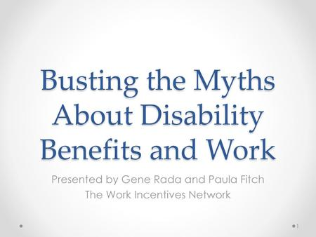 Busting the Myths About Disability Benefits and Work