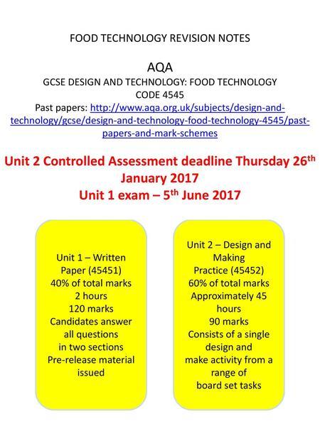aqa textiles coursework deadline 2016