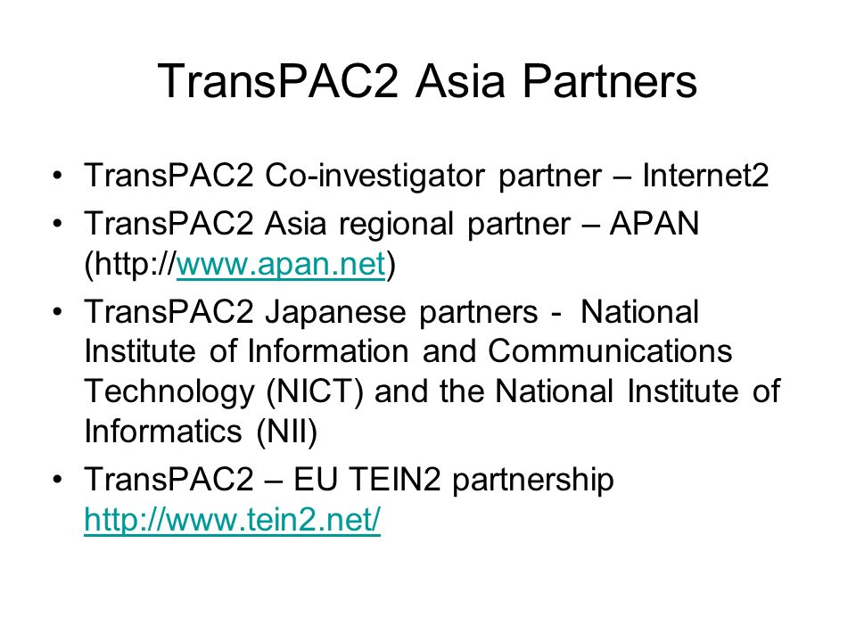 Leverage and Partnerships Key IRNC concepts allowing: 1.