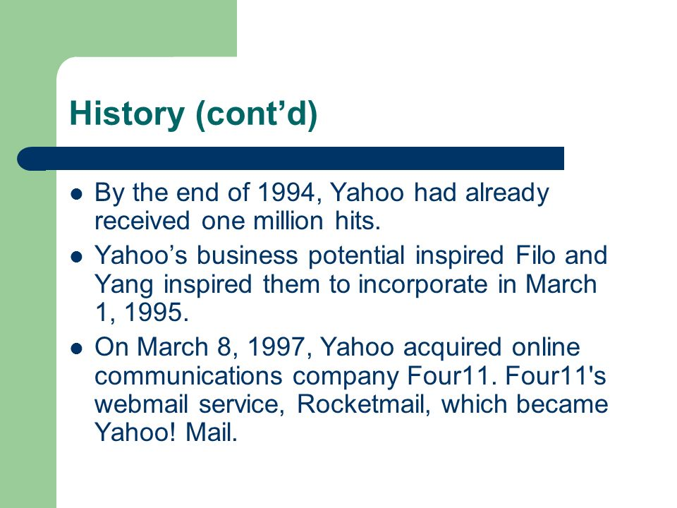 Interesting Facts Filo and Yang insist they selected the name because they liked the general definition of a yahoo: rude, unsophisticated, uncouth.