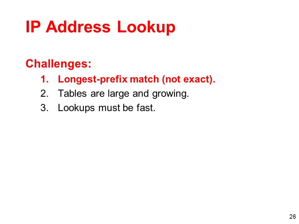 27 Address Tables are Large
