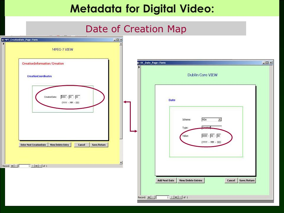 Metadata for Digital Video: Date of Release / Issue Map