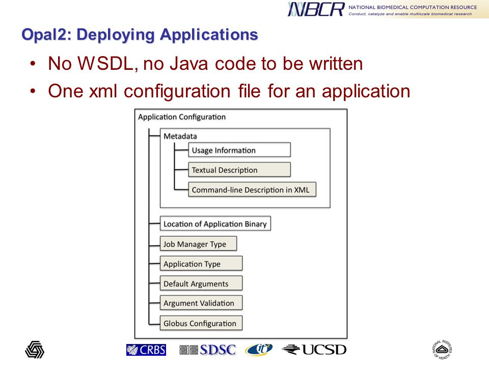 Sample Application Configuration <appConfig xmlns= http://nbcr.sdsc.edu/opal/types xmlns:xsd= http://www.w3.org/2001/XMLSchema > ]]> <![CDATA[ --help : Display this text --CFAC= : Factor by which to expand mol dims to get coarse grid dims [default = 1.7]...