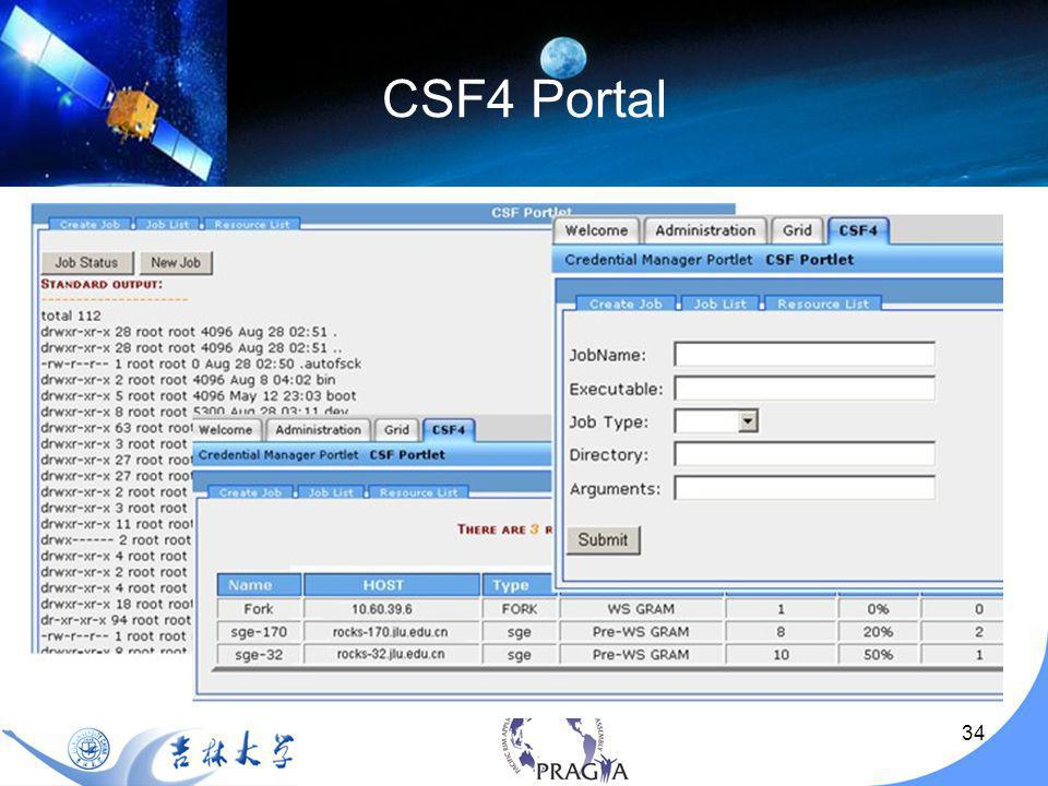 35 How to use CSF4 Provide backend meta-scheduling for your grid environment with your own Web Portal – like My Workshpere by NBCR)