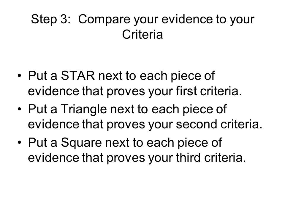 Write your evaluation… Use this structure for your evaluation: If you are a strong writer, go to town and be persuasive.