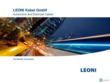 LEONI Kabel GmbH Automotive and Electrical Cables