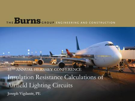 Insulation Resistance Calculations of Airfield Lighting Circuits