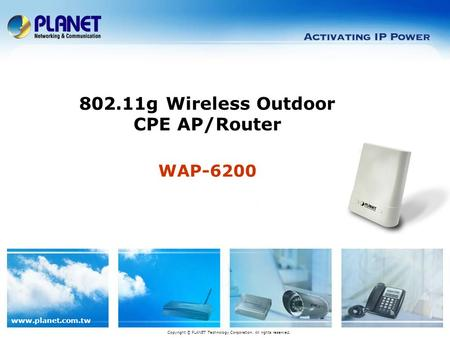 802.11g Wireless Outdoor CPE AP/Router