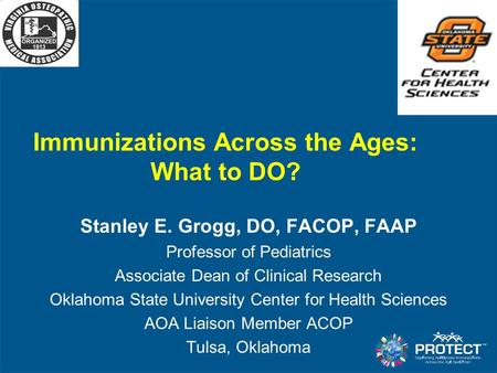 Immunizations Across the Ages: What to DO?