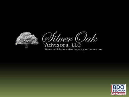 Table of Contents 1. The Silver Oak Vision 2. Management Team 3. Our Network of Professionals 4. Scope of Services 5. Industries of Expertise 6. Selected.
