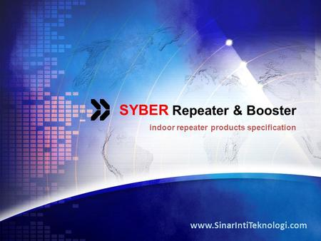 SYBER Repeater & Booster indoor repeater products specification www.SinarIntiTeknologi.com.