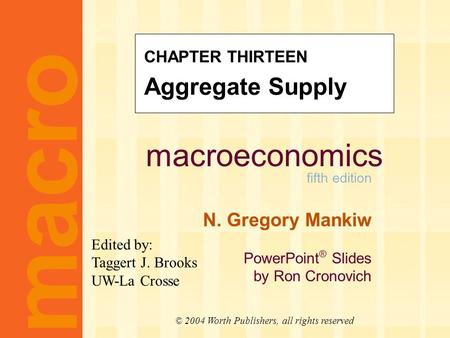 Learning objectives three models of aggregate supply in which output depends positively on the price level in the short run the short-run tradeoff between.