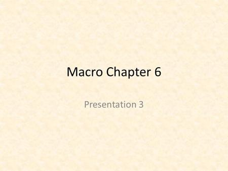 Macro Chapter 6 Presentation 3. Shortcomings of GDP 1. Nonmarket Activities Excluded- ex. The work of a housewife or a carpenter fixing his own home 2.