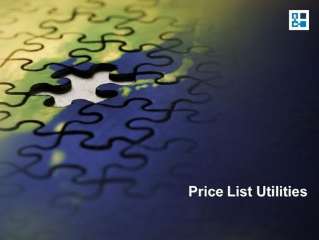 Price List Utilities.