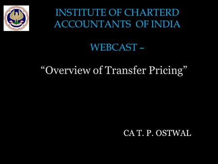 """Overview of Transfer Pricing"""