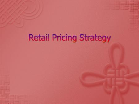 Integral part of retail marketing mix Source of revenue for the retailer Communicate the image of the retail store.
