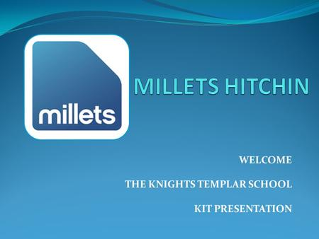 WELCOME THE KNIGHTS TEMPLAR SCHOOL KIT PRESENTATION.