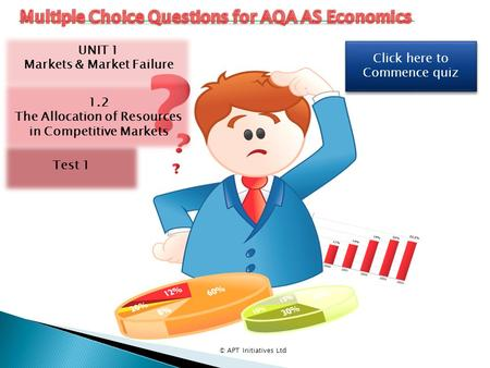 Click here to Commence quiz Click here to Commence quiz © APT Initiatives Ltd UNIT 1 Markets & Market Failure 1.2 The Allocation of Resources in Competitive.