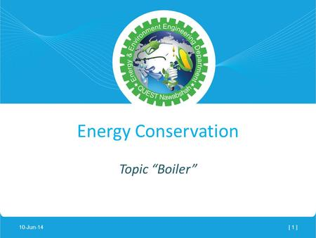 "Lecture Notes - Energy Conservation Topic ""Boiler"""