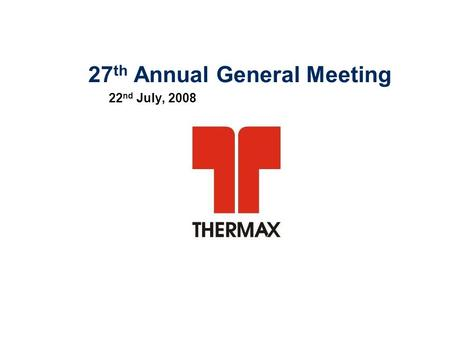 27th Annual General Meeting