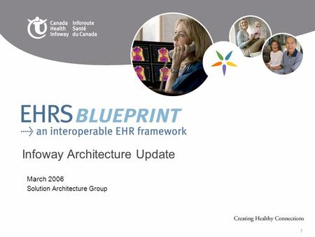 1 March 2006 Solution Architecture Group Infoway Architecture Update.
