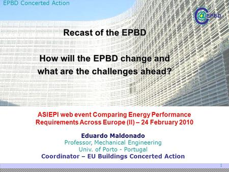 How will the EPBD change and what are the challenges ahead?