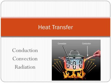 Conduction Convection Radiation Heat Transfer. Heat always moves from a warmer place to a cooler place. Hot objects in a cooler room will cool to room.
