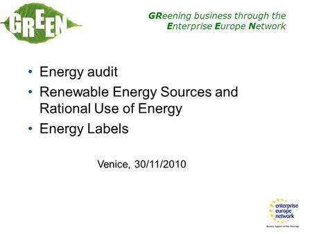 Thesis on energy