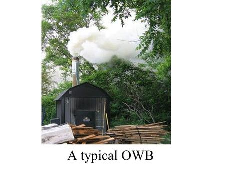 A typical OWB. PROBLEMS WITH OWBs Health risks Public Nuisance Property Values Environmental Degradation.