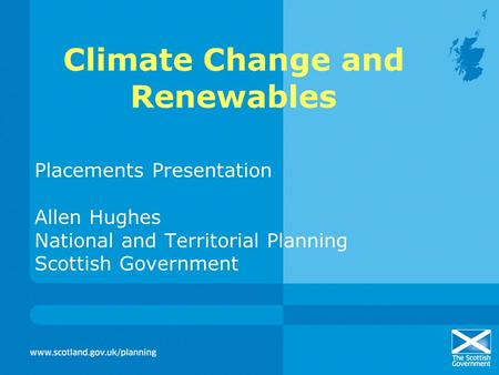 Climate Change and Renewables