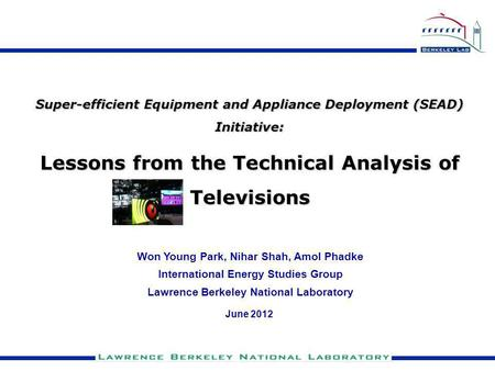 Lessons from the Technical Analysis of Televisions