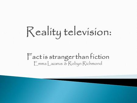 Fact is stranger than fiction Emma Lazarus & Robyn Richmond.