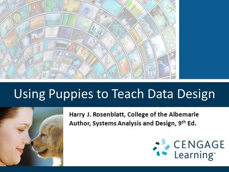Using Puppies to Teach Data Design Harry J. Rosenblatt, College of the Albemarle Author, Systems Analysis and Design, 9 th Ed.