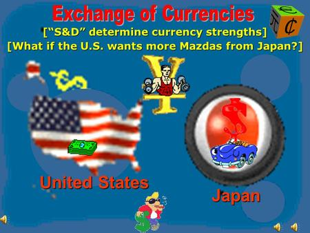 [S&D determine currency strengths] Japan United States [What if the U.S. wants more Mazdas from Japan?]