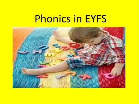 Phonics in EYFS. The Reading Strategies Contextual Grammatical Graphic Phonic.
