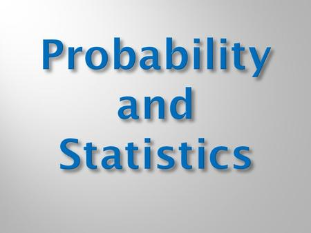 Dont worry! Unless youve taken Probability and Statistics, the chances of you being able to answer that question correctly are less than 20%.