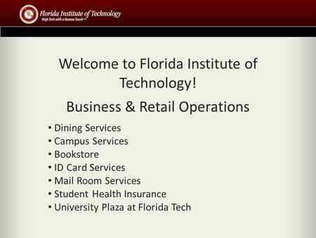 Welcome to Florida Institute of Technology