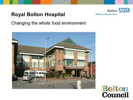 Royal Bolton Hospital Changing the whole food environment.