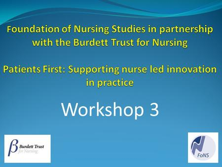 Workshop 3. Overview of Workshop 3 Today we will explore how the following processes can inform improvements in practice: Enabling the participation of.