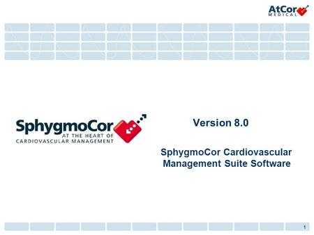 SphygmoCor Cardiovascular Management Suite Software