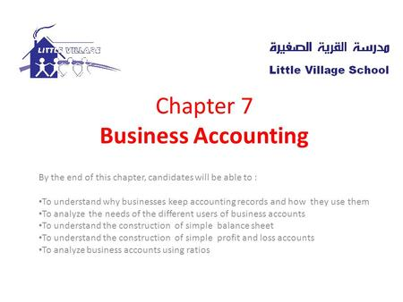 Chapter 7 Business Accounting