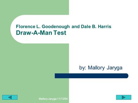 draw a person test manual