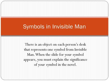 invisible man characterization Plot summary major characters objects/places quotes topic tracking:  anger topic tracking: betrayal topic tracking: invisible prologue chapter 1.