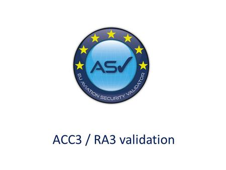 ACC3 / RA3 validation.