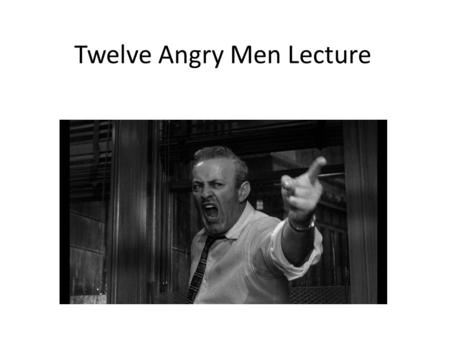 Twelve Angry Men Summary