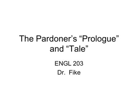 Transformation – The Pardoners Tale and a Simple Plan Essay Sample