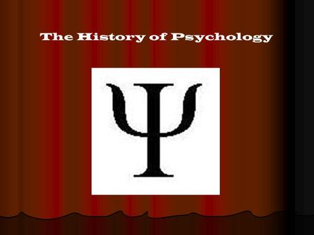 The History of Psychology. Thales of Miletus ( 624-546 B.C.)