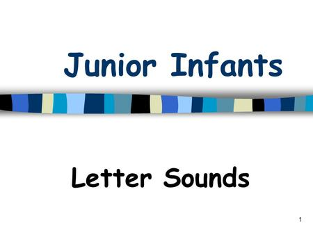 1 Junior Infants Letter Sounds 2 c says /c/ as in cat c.