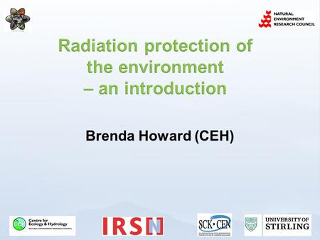 Radiation protection of the environment – an introduction