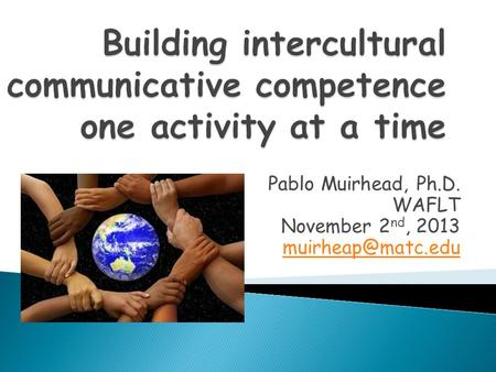 Building intercultural communicative competence one activity at a time